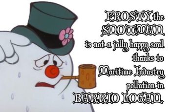Frosty is no longer a jolly, happy soul.