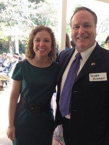 James Kimber with DNC Chair Debbie Wasserman via Facebook