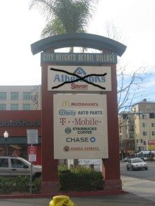 alberton retail village sign