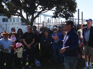 Alvarez thanks his supporters and volunteers at Cesar Chavez Park in Barrio Logan.