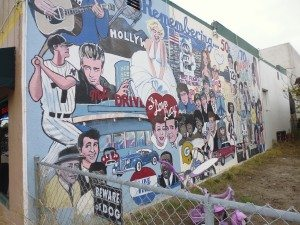 The mural outside