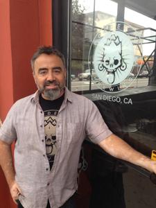 Border X Brewing co-owner David Favela outside the tasting room.