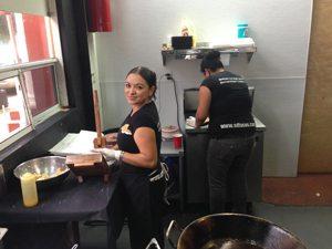Making handmade tortillas for San Diego Taco Company.