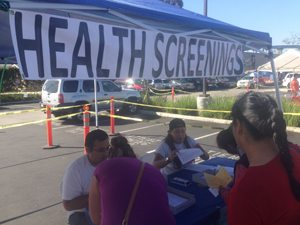 Logan Heights Family Health Center provided free health screenings to Health Fair attendees.
