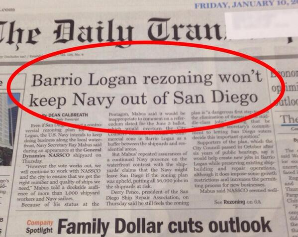 Navy barrio logan