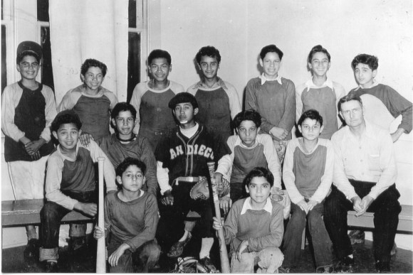 Top Row left Patty Boy (in hat); Bottom Row right Oscar Torres (with bat); Coach Pinkerton(click for larger image)