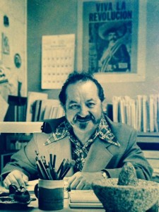 Leonard Fierro in the Bi-Lingual Education Ctr photo courtesy of Carrie Fierro