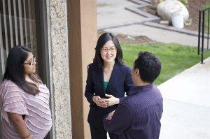 Carol Kim at the Door
