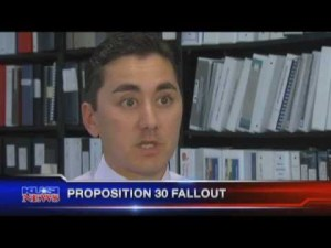 Chris Cate explaining to KUSI how Prop. 30 would cause economic disaster.