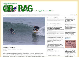 Screen shot of a September 2009 homepage