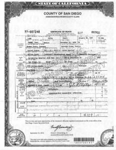 Lupita's death certificate