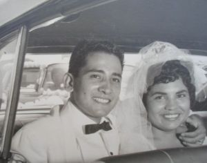 Richard and Mary Castillo wedding 1960