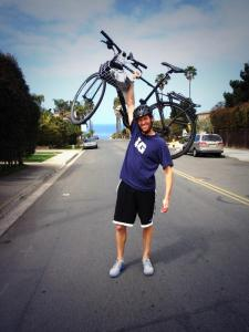 J.P. Anderson with bike