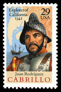 Juan Rodríguez Cabrillo stamp