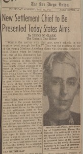 Gertrude Peifer newspaper clipping