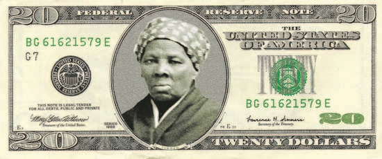 Harriet Tubman on a $20 bill