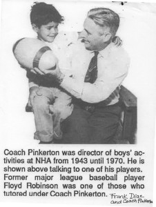 Neighborhood House coach Pinkerton with Frank Diaz