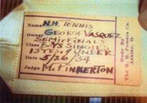 Tennis award for George Vasquez of Neighborhood House