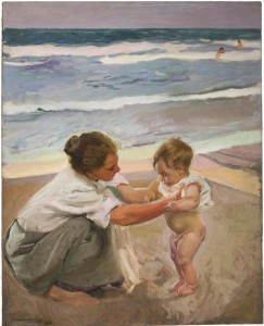 """By the Seashore, Valencia"" by Joaquín Sorolla y Bastida"