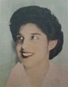 Concha Estrada as a young girl