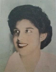 Concha Estrada as a young girl