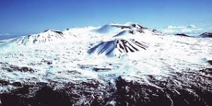 The Mauna Kea Summit in winter