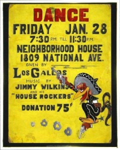 """Los Gallos"" dance poster (Courtesy of Richard Romio)"