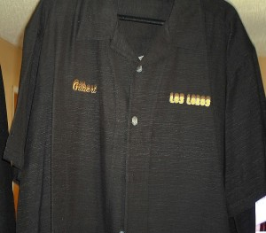 Los Lobos shirt; Gilbert Reyes collection