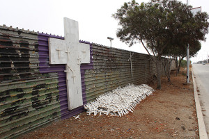 Crosses at border