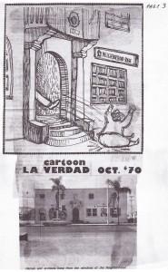 Takeover cartoon from La Verdad