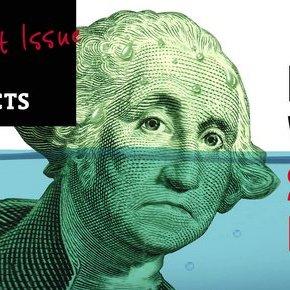 George Washington partially underwater
