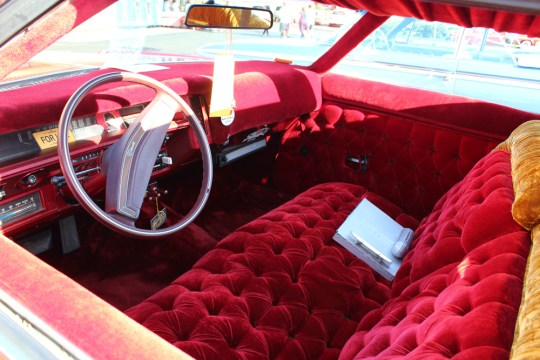 Interior of Switch Car Club lowrider