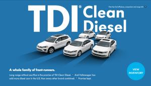 vw diesel ad