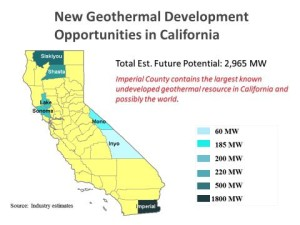 Map of New Geothermal Development Opportunities in California
