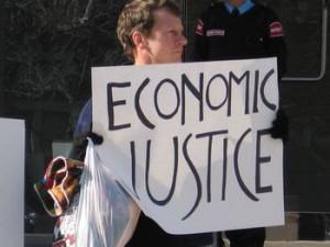 economic justice sign
