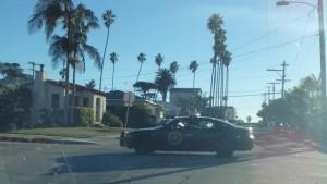 NPS Patrol car in residential area