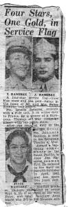 Ramirez WWII four stars, one gold
