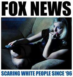 fox news scaring whites