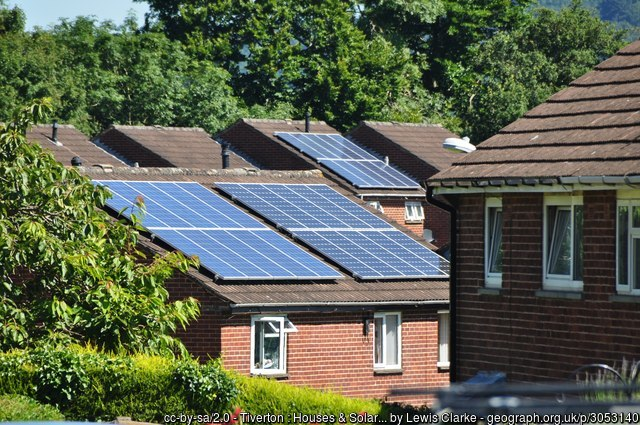 Houses & Solar Panels in Tiverton, England