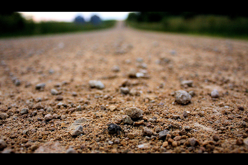 walking on gravel photo