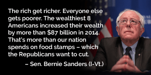 bernie on the rich
