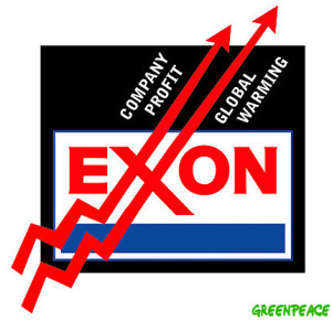 Greenpeace graphic linking Exxon to global warming