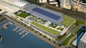 "Harbor-side contiguous Convention Center expansion rendering – banned under JMI-Briggs ""Citizens Plan"" – image from San Diego Convention Center Corp."