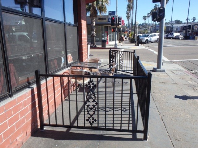 Photo of permanent fence and gate installed outside of The Joint in Ocean Beach