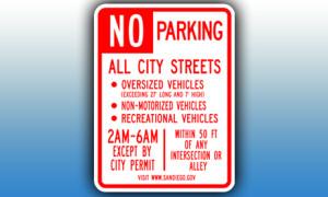 no rv parking