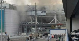 Screenshot of ABC video showing Brussels airport damage of March 23 2016 terrorist attack