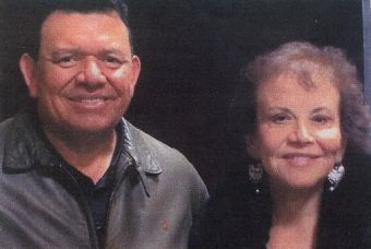 Fernando Valenzuela and author, Maria Garcia