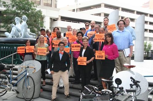 EHC members at SANDAG protest