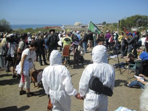 Protest at San Onofre, March 11, 2012.