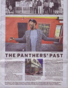 Scan of a portion of a February 28th, 2016, San Diego U-T article on the Black Panthers